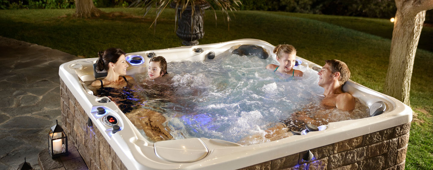 family-hottub-night